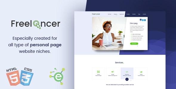 Freelancer - Creative Business & Portfolio Personal Page HTML5 Template - Portfolio Creative