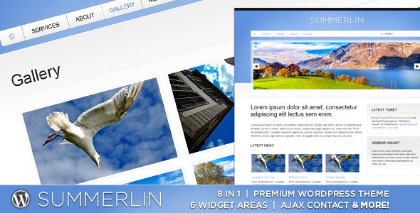 WP Summerlin - 8 in 1 - Premium Wordpress Theme - Portfolio Creative