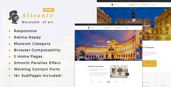 Alicante - Museum & Exhibition HTML Template - Nonprofit Site Templates