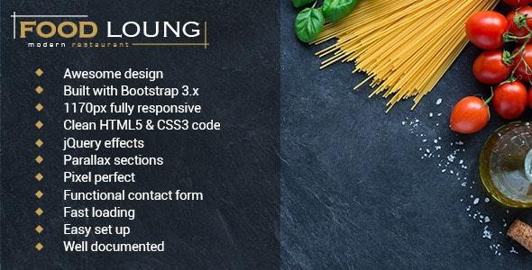 FOOD LOUNG - Restaurant Website Template - Food Retail