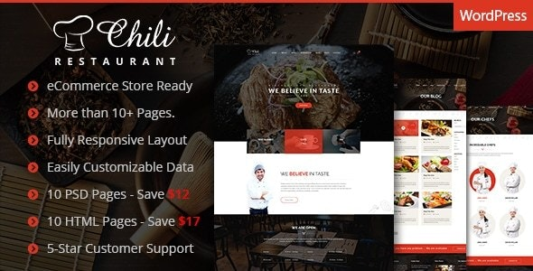 Chili - Multi-Purpose Restaurant WordPress Theme - Food Retail