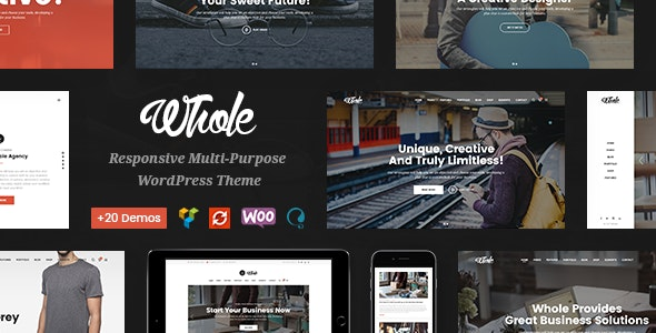 Whole - Creative Multi-Purpose WordPress Theme - Business Corporate