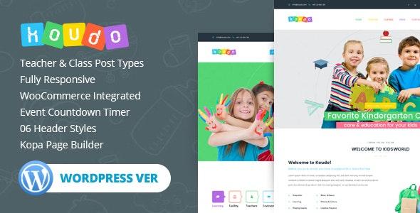 Koudo Education WordPress theme - Education WordPress
