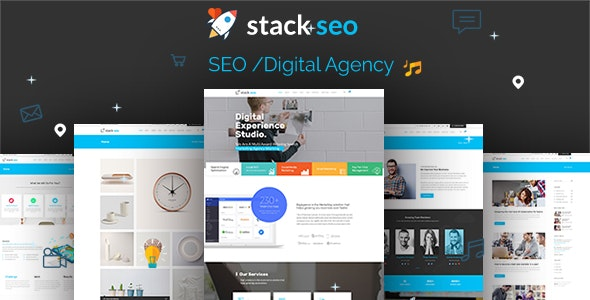 Stack SEO - PSD Template - Marketing Corporate