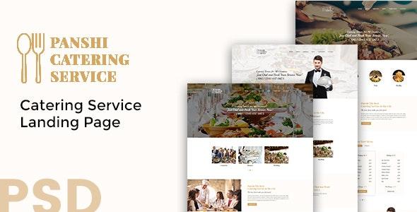 Panshi - Catering Service PSD Template - Restaurants & Cafes Entertainment