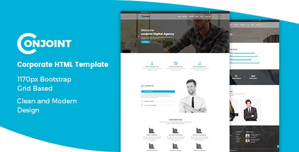 Conjoint – Corporate Business Agency Bootstrap Template - Business Corporate