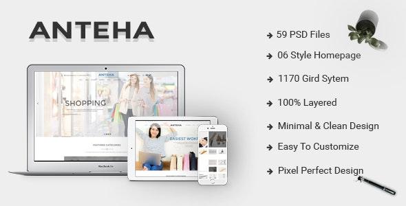 Anteha - Clean & Minimal multipurpose PSD template - Business Corporate
