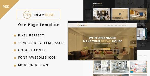 Dreamouse - Interior Design, Decor & PSD Template - Portfolio Creative