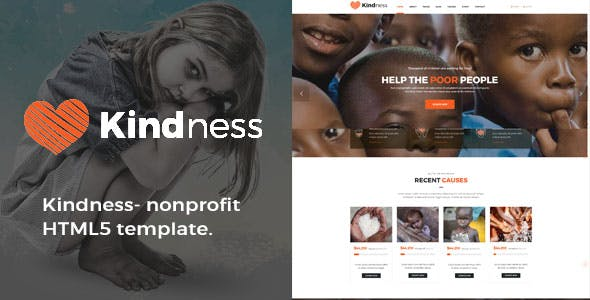 Kindness- Responsive HTML Template for Charity & Fund Raising