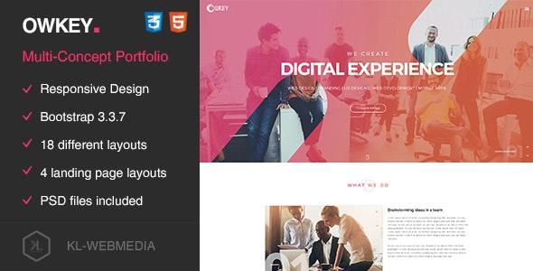 Owkey - Multi-Concept HTML5 template - Portfolio Creative