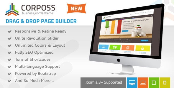 Corposs - Responsive Business Joomla Template - Business Corporate
