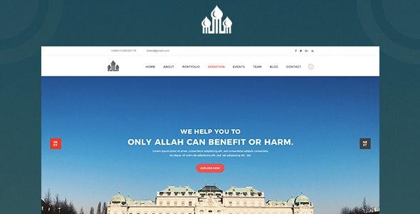 Mosque PSD Template - Nonprofit Photoshop