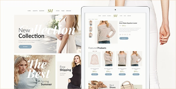 Summer Moon - Fashion Store Muse Template - eCommerce Muse Templates