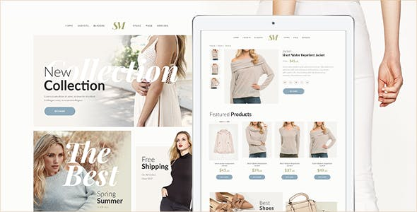 Download Summer Moon - Fashion Store Muse Template