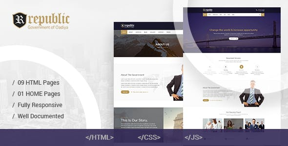 Republic - Government HTML Template