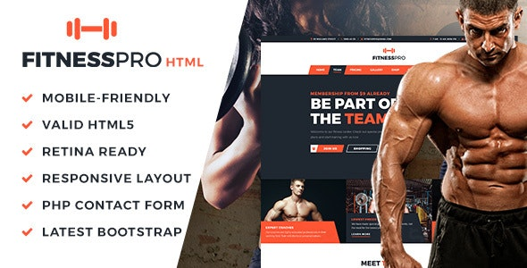 FitnessPro HTML Template - Health & Beauty Retail