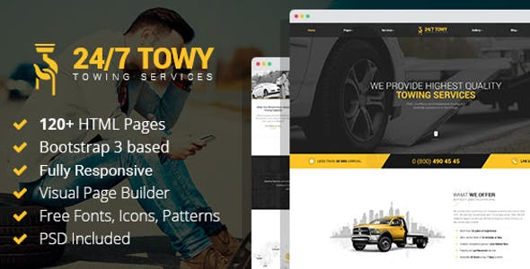 Towing Website Templates from ThemeForest