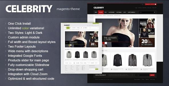 Celebrity - Responsive Magento theme - Magento eCommerce