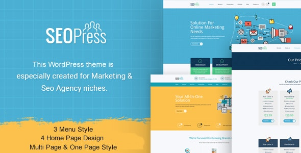 SeoPress - Digital Marketing Agency WordPress Theme - Marketing Corporate