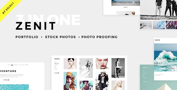 Zenit - Clean Photography Theme