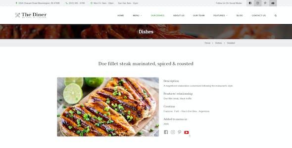 The Diner - Restaurant & Bar PSD Template