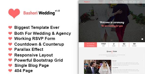 Bashori - Wedding HTML Template - Wedding Site Templates