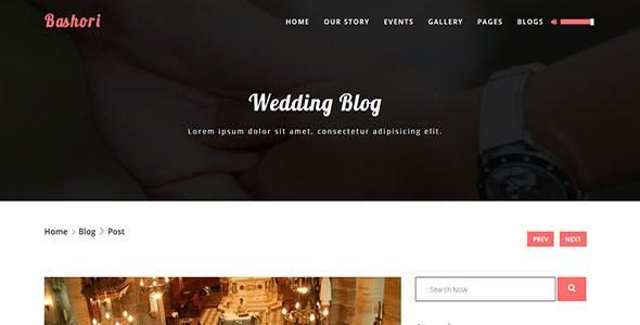 Bashori - Wedding HTML Template