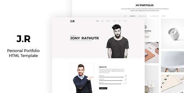 JR - Resume, CV & Creative Portfolio Template - Resume / CV Specialty Pages