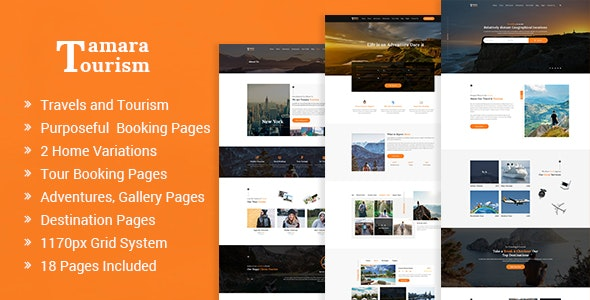 Tamara - Travel Agency and Tourism PSD Template - Travel Retail