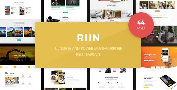 Run - Powerful Multi-Purpose PSD Template - Corporate Photoshop