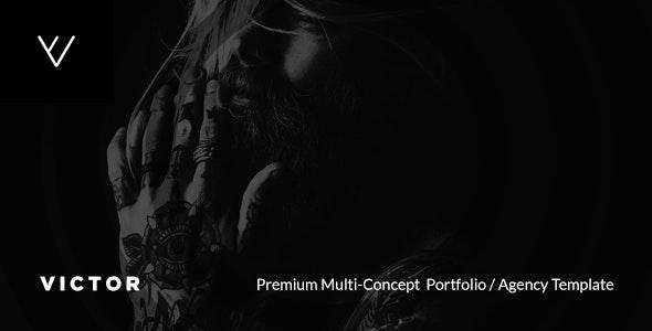 VICTOR - Premium Creative Portfolio / Agency / Photography / Personal / Multi-Concept Web Template - Creative Site Templates