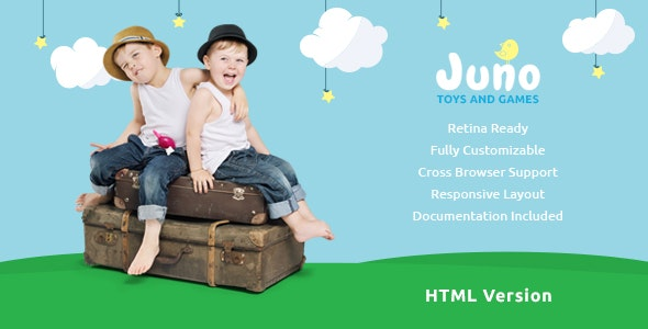 Juno | Kids Toys & Games Store Template - Children Retail