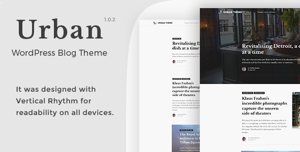 Urban - WordPress Blog Theme - Blog / Magazine WordPress