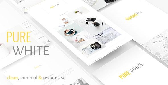 Pure White - Site Templates