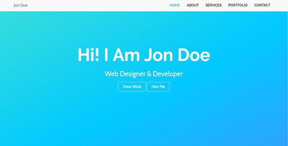 Pogo-Personal Portfolio Template - Personal Site Templates