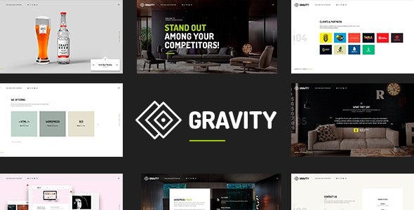 Gravity - Creative Agency & Presentation Theme - Portfolio Creative