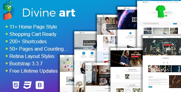 Divine - Responsive Multi-Purpose HTML5 Template - Corporate Site Templates