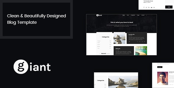 Giant Blog - Blog PSD Template - Personal Photoshop