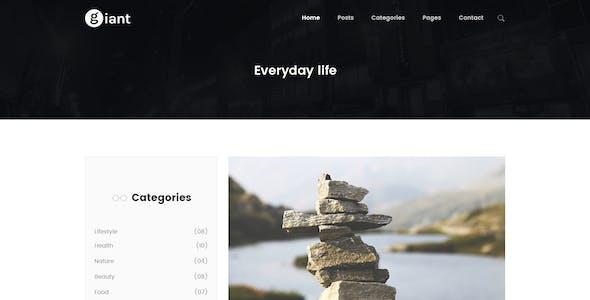 Giant Blog - Blog PSD Template