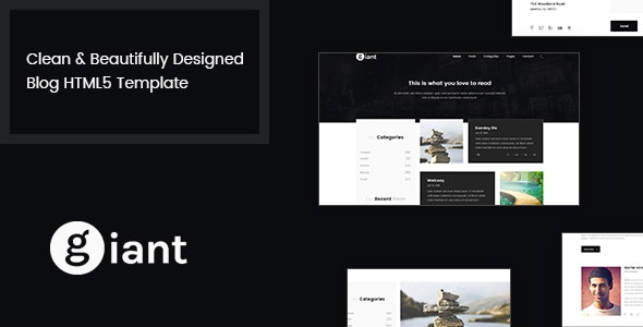 Giant Blog - HTML5 Blog Template - Personal Site Templates