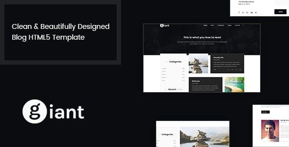 Giant Blog - HTML5 Blog Template