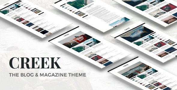 Creek - Classic Elegant Magazine WordPress Theme - Personal Blog / Magazine