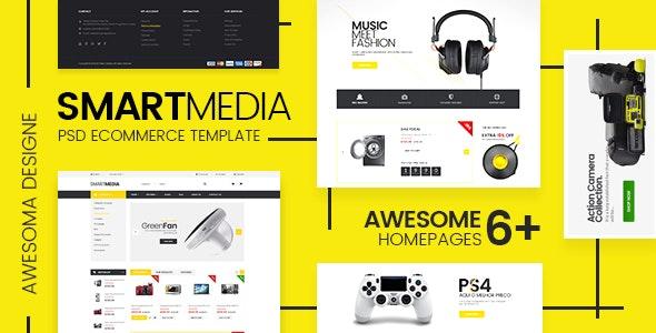Smart Media - Ecommerce PSD Template - Retail Photoshop