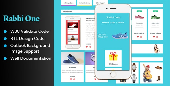 Rabbi One - UI KIT Style Email Template - Email Templates Marketing