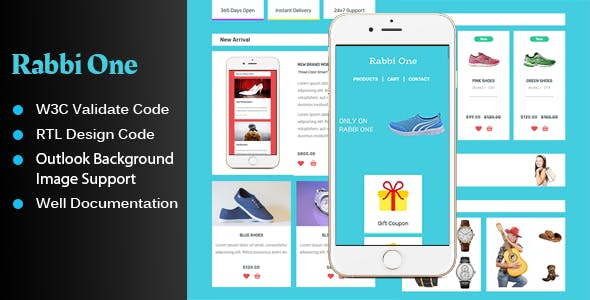 Rabbi One - UI KIT Style Email Template