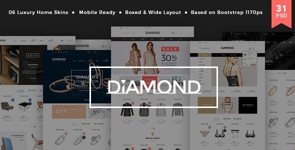 Diamond - Multi-Purpose Luxury Ecommerce PSD Template - Shopping Retail