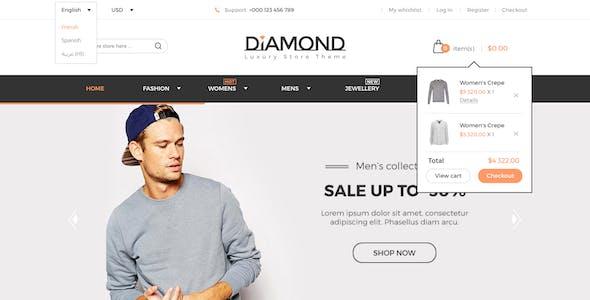 Diamond - Multi-Purpose Luxury Ecommerce PSD Template
