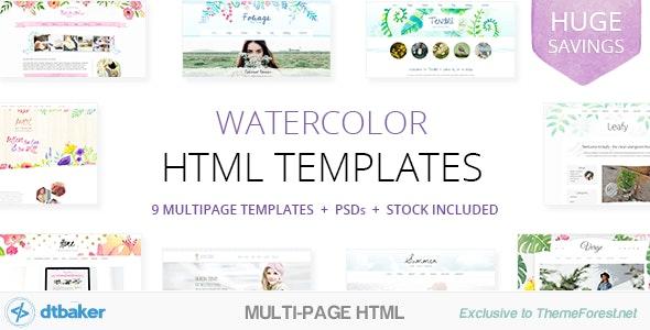 9 Watercolor HTML Multipurpose Templates - Creative Site Templates