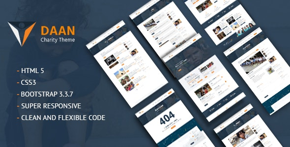 Daan - NGO Charity Template - Charity Nonprofit
