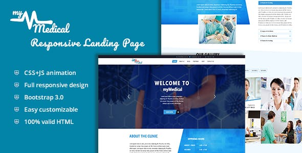 myMedical - Health & Doctor Landing Page HTML Template